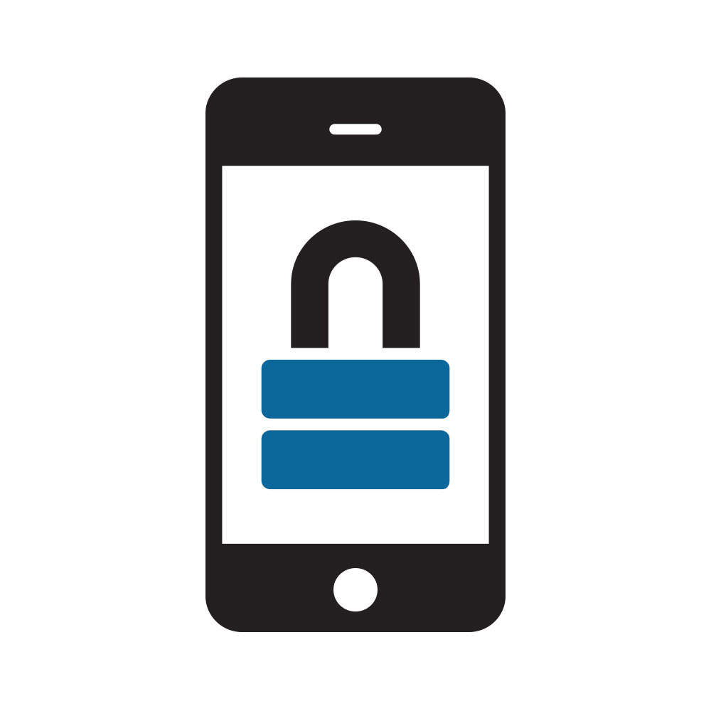 Phone Data Security Icon Palitto Consulting Services