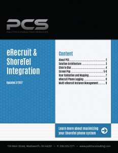 eRecruit & ShoreTel Integration Cover