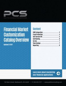 Financial Market Customization Catalog Overview Cover