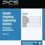 Sample Telephone Engineering Analysis Cover