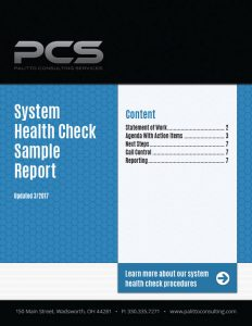 System Health Check Sample Report Cover
