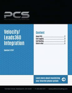 Velocify / Leads 360 Integration Cover