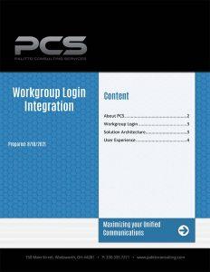 Workgroup Login Integration PDF Document Thumbnail